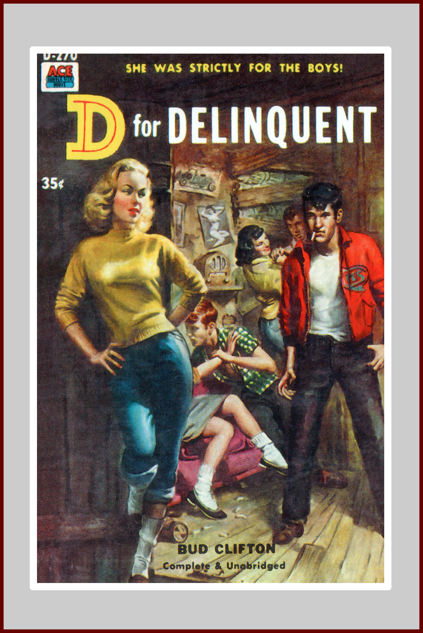 D for Delinquent, pulp novel