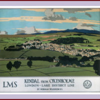 Kendal from Oxenholme, Norman Wikinson