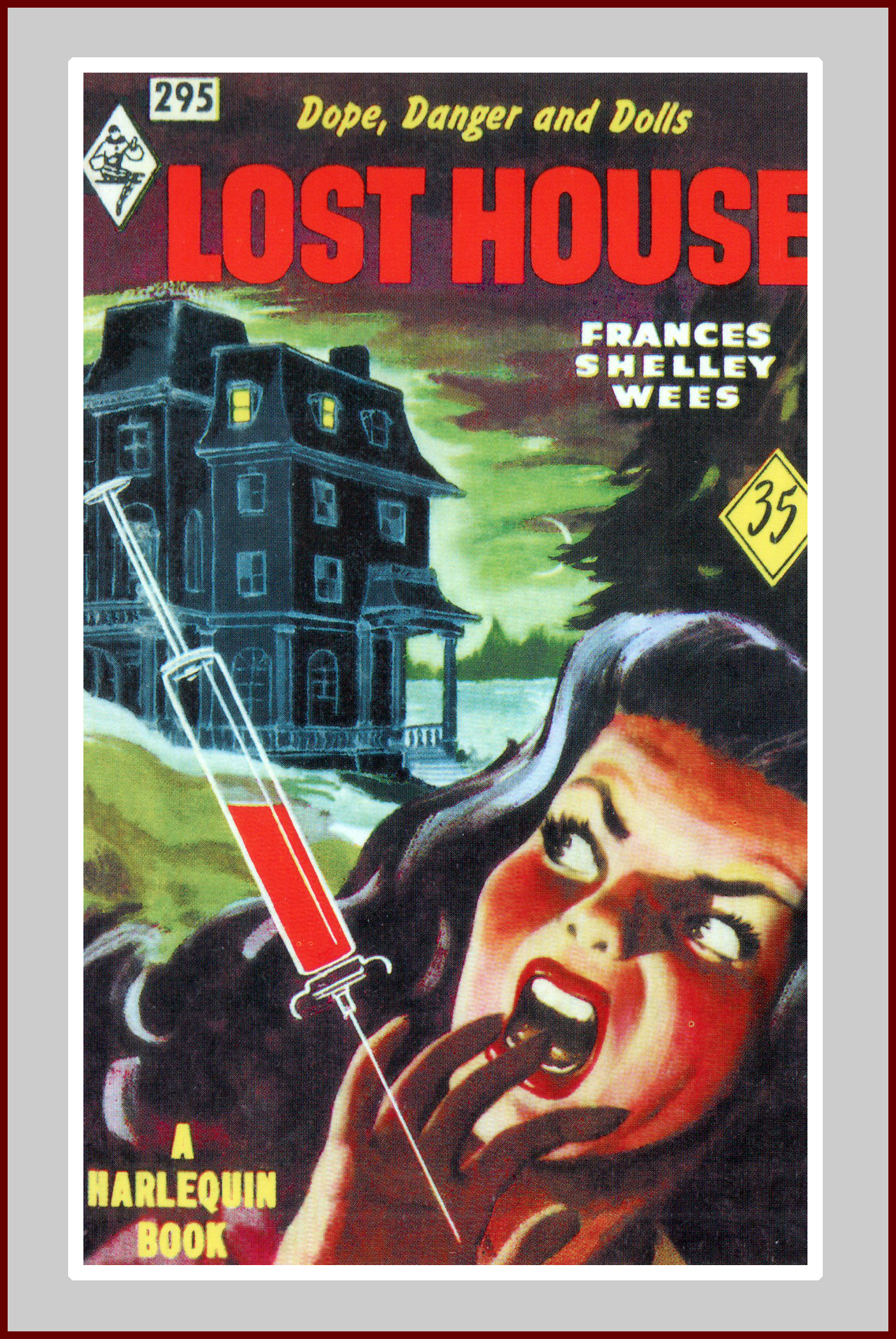 Lost house, pulp fiction novel