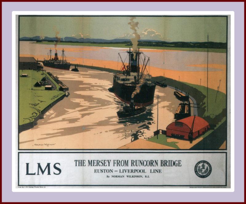 Mersey Runcorn Bridge, Norman Wilkinson