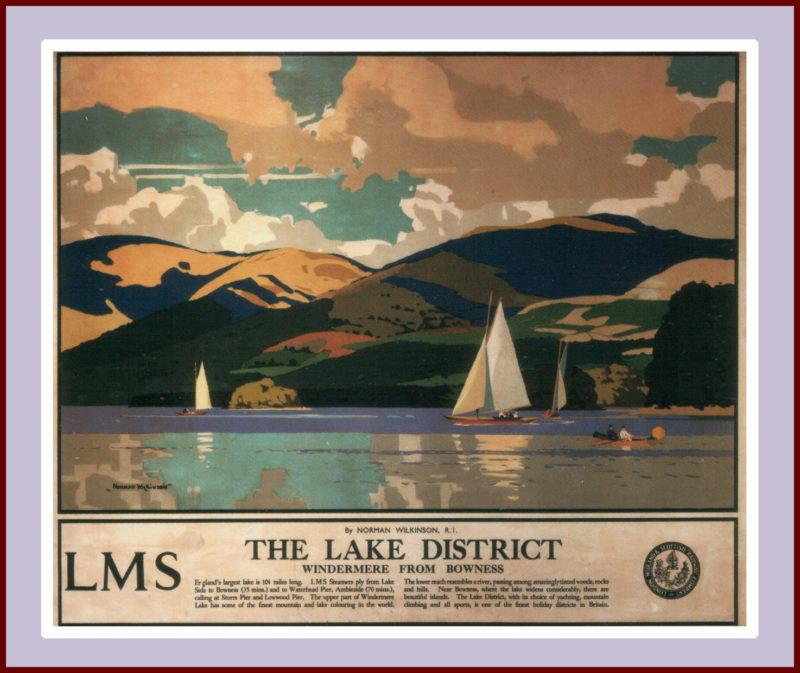 Windermere, Lake District, Norman Wilkinson
