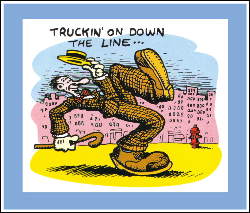 Robert Crumb Truckin on Down