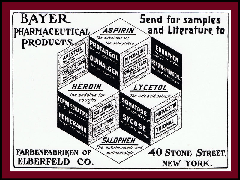 Bayer Heroin Vintage Advert