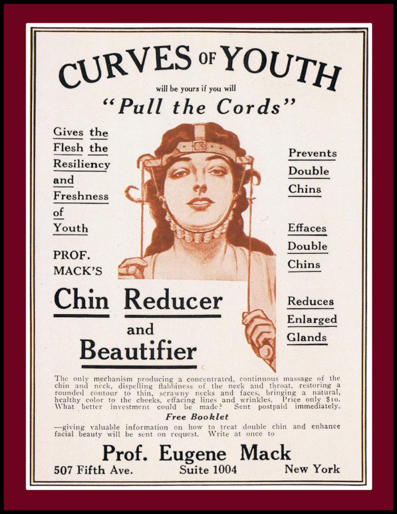 Chin Reducer Vintage Advert