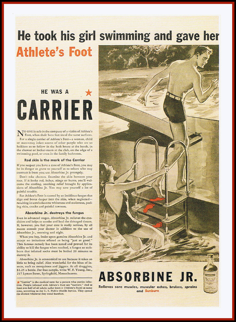 Athlete's Foot Vintage Advert