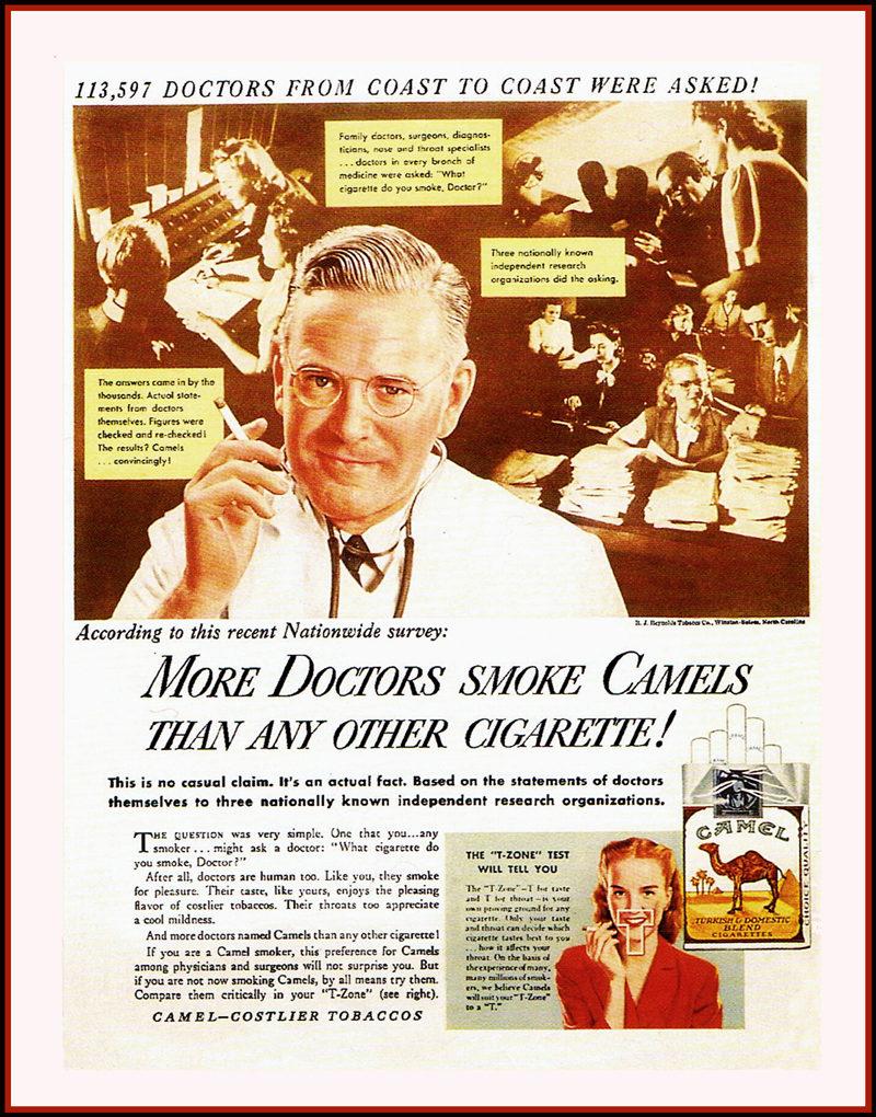 Camel Cigarettes Vintage Advert