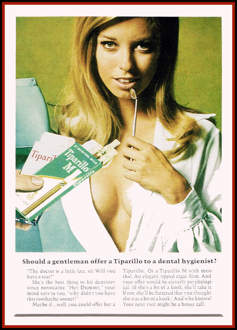 Vintage smoking Advert